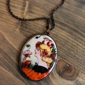 Vintage Ceramic Necklace